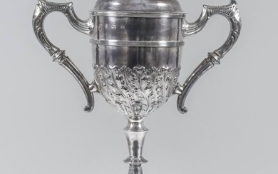 An Edward VII Silver Two-Handled Prize Cup and Cover,...