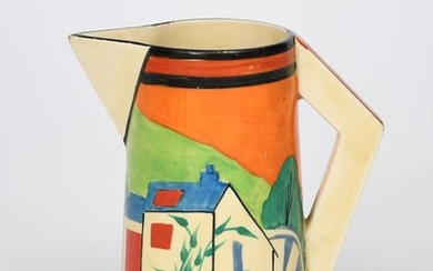 Applique Orange Lugano' a Clarice Cliff Bizarre Conical...