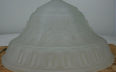 Art Deco French Vianne Reproduction Glass Table Lamp