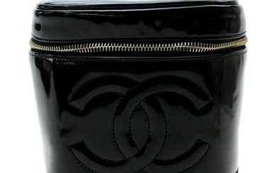 Authentic CHANEL Patent Leather Vanity Bag
