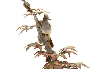 Boehm, Crested Flycatcher Porcelain Sculpture