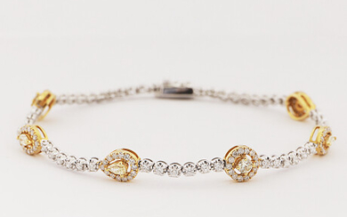 Bracelet with diamonds up to about 1.80 ct Armband med diamanter tot ca 1,80 ct
