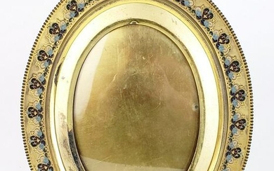 Bronze & Enamel Photo Frame