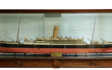 CASED BOARDROOM SHIP MODEL