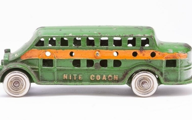 "CAST IRON ""NITE COACH"" MADE BY KENTON TOYS."
