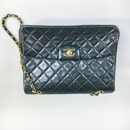 Chanel Black Leather Quilted Handbag