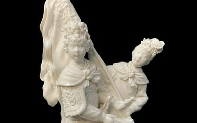 Chinese Blanc De Chine Figural Group