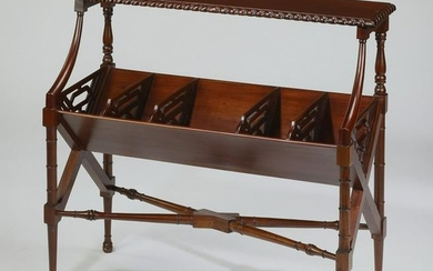 Chinese Chippendale style mahogany book cradle