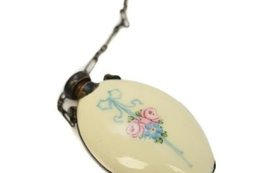 Chinese Enamel & Silver Scent Snuff Bottle