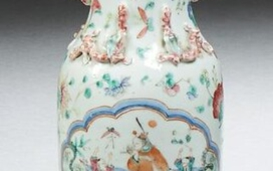 Chinese Porcelain Baluster Vase, 19th c., the everted