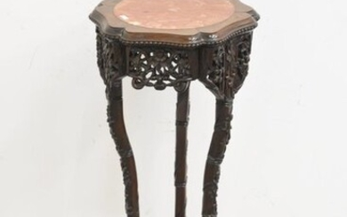 Chinese carved base, 19th century (92cm)