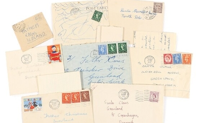 NOT SOLD. 1952-1959. 8 covers addr. to Santa Claus in Greenland (etc.). 6 are with...