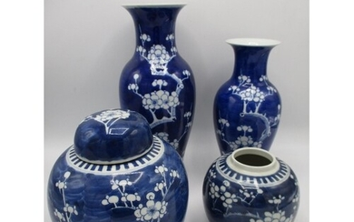 Early 20th century Chinese blue and white ceramics decorated...