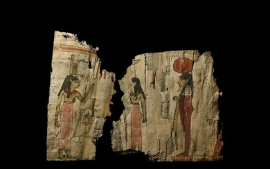 Egyptian Painted Cartonnage Group
