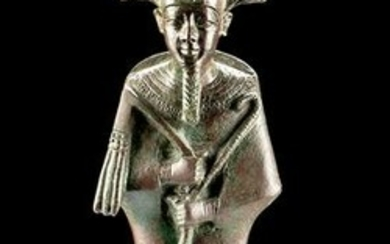 Tall Egyptian Bronze Figure of Osiris - Art Loss Cert.
