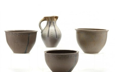 Four NC Pottery Items by Mark Hewitt Pottery