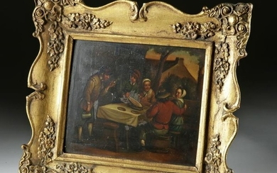 Framed 19th C. Painting after David Teniers the Younger