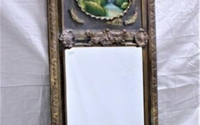 French Style Beveled Trumeau Mirror #1
