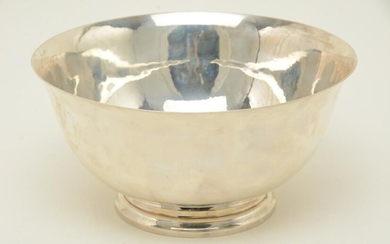 Gebelein sterling silver punch bowl, 1933. Handwrought.