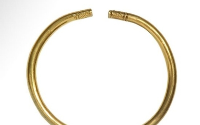 Greek Gold Bracelet with Decorated Terminals, Archaic