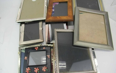 Group of Silverplate Picture Frames