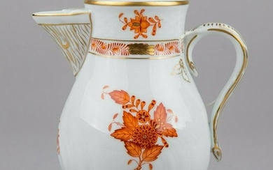 Herend Chinese Bouquet Rust Orange Jug #1483/AOG