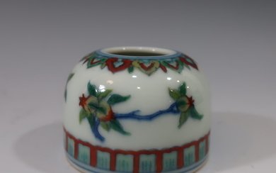 IMPERIAL CHINESE DOUCAI WATER COUPE - QIANLONG MARK AND PERIOD