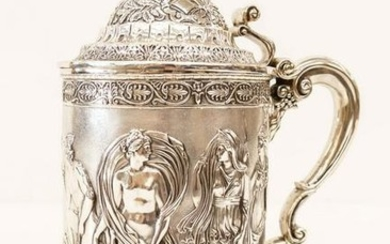 Impressive Georgian Silver Large Tankard by Phillip