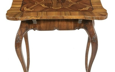 Italian Walnut and Fruitwood Center Table