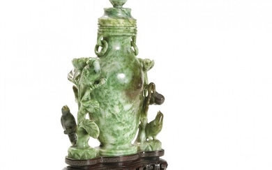 Jadeite vase with cover China, 20th Century