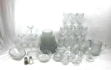 Large Collection of Fostoria American Clear Dinner