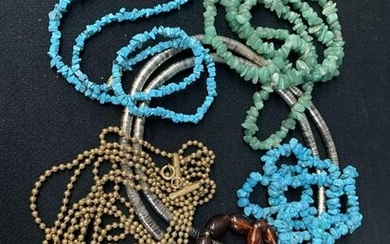 Lot Of 6 Beaded, Costume Jewelry Necklaces