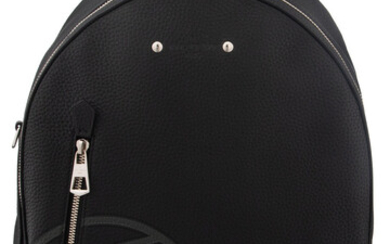 Louis Vuitton Black Leather Backpack with Silver Hardware Condition:...