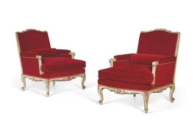 ■ PAIR OF STYLE BERGERES LOUIS XV XX...