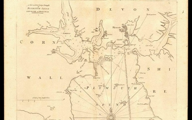 PLYMOUTH SOUND, Cattewater & Hamoaze sea chart by Capt