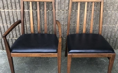 Pair Foster Mid Century Arm and Side Chairs