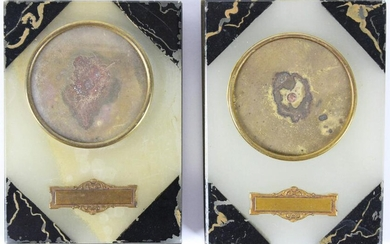 Pair of Ca 1900 French Onyx Picture Frames