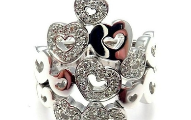 Pasquale Bruni 18k White Gold Diamond Hearts Ring