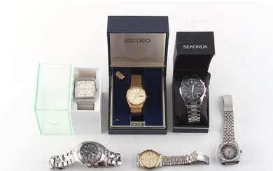 Property of a deceased estate - a gentleman's boxed Seiko SQ...