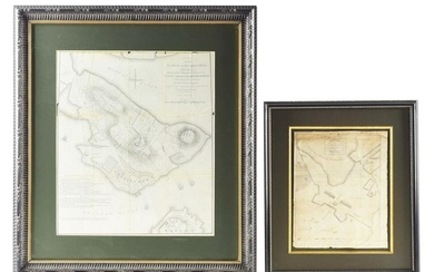 RARE 1775 SIEGE OF BOSTON MAP AND BUNKER HILL BATTLE