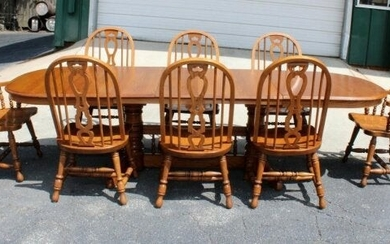 Richardson Brothers dining table & 8 Windsor chairs