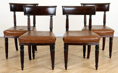 SET 4 REGENCY CURVED BACK CHAIRS CIRCA 1820