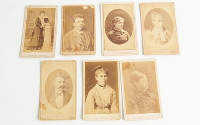 SEVEN RUSSIAN CABINET CARDS, LEONARD JOEL LOCAL DELIVERY SIZE: SMALL