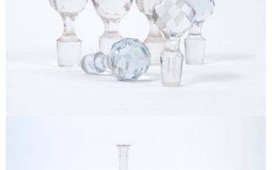 Set of cut crystal or glass pieces