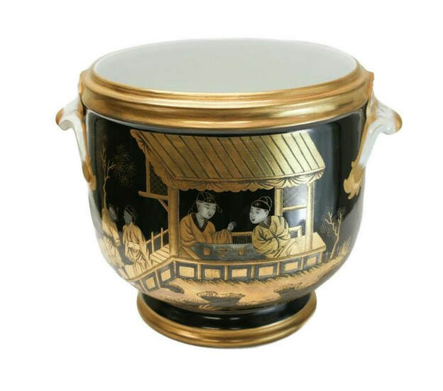 Sevres Style Chinoiserie Wine Cooler, c1900