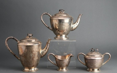Sterling Silver Tea & Coffee Service, 4 pcs