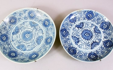 TWO 18TH / 19TH CENTURY CHINESE BLUE & WHITE PORCELAIN