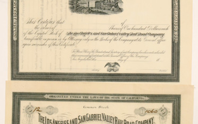 The Los Angeles and San Gabriel Valley Rail Road Co #102456