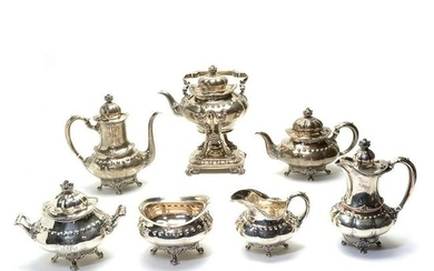 Tiffany & Co Seven Piece Sterling Tea and Coffee