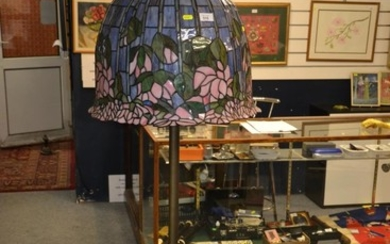 Tiffany style floor lamp, 164cm approx. height